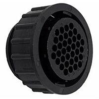 TE 182923-1- AMP CPC 23 - 37 Nap Uros Kaapeliliitin - Musta