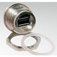 CONEC 17-200431 - USB A Paneelin Läpivientiliitin IP67 M28 Kierre Metallinen