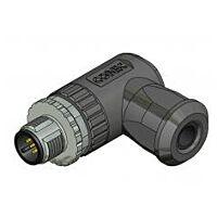 M12 Anturiliitin 5nap Uros Kaapeliin Kulma - CONEC 43-00106