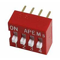 APEM DS-04 - DIP-KYTKIN 4NAP