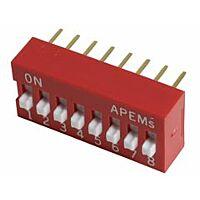 APEM DS-08 - DIP-KYTKIN 8NAP