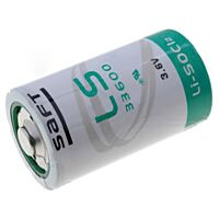 SAFT LS33600 - Litiumparisto 3.6V 17 000 mAh D-koko
