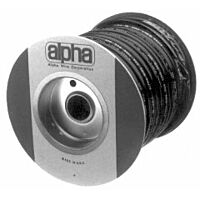 ALPHA PVC-105-1 IN BLACK - SUOJASUKKA 25.40-26.31mm 15m BLACK