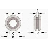 KSS WIRING GMQ-1006 - PVC BLACK GROMMET 13.3MM, 100/BAG