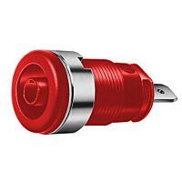 HIRSCHMANN SEB2610-F4.8-PU (972355101) - Naparuuvi / Turvabanaanihylsy 4mm Punainen