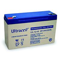 ULTRACELL UL12-6 - Lyijyakku 6V 12Ah 4-5 vuotta