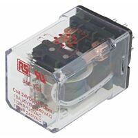 RS Pro  348784 - DPDT yleiskäyttörele 24Vdc 1