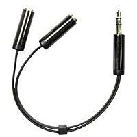 DELTACO AUD-200 - Plugi 3.5mm stereo / 2x3.5mm naara