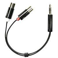 DELTACO AUD-205 - Plugi 3.5mm stereo / 2 x RCA naaras