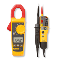 Fluke 325 Clamp meter and T130 Voltage & Continuity tester