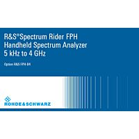 ROHDE & SCHWARZ FPH-B4-03 - FPH-B4 FREQ UPGRADE 2GHZ TO 4GHZ