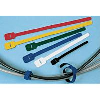 Yellow hook & loop cable tie