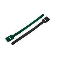 Green hook & loop cable tie
